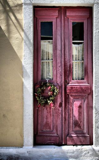 DArk Pink Door