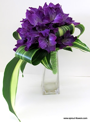 10 Purple Bridal Bouquets First Come Flowers