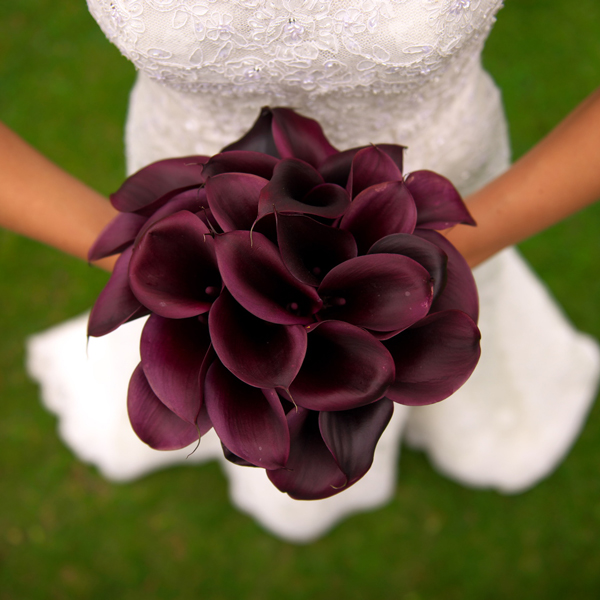 10 Burgundy Bridal Bouquets - First Come Flowers