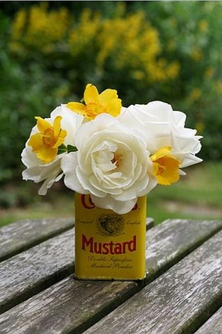 Mustard Can Flowers