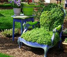Flower Chair with table