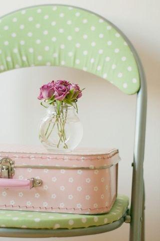 Pink pola suitcase