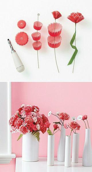 Paper flower Cupcake Liner C