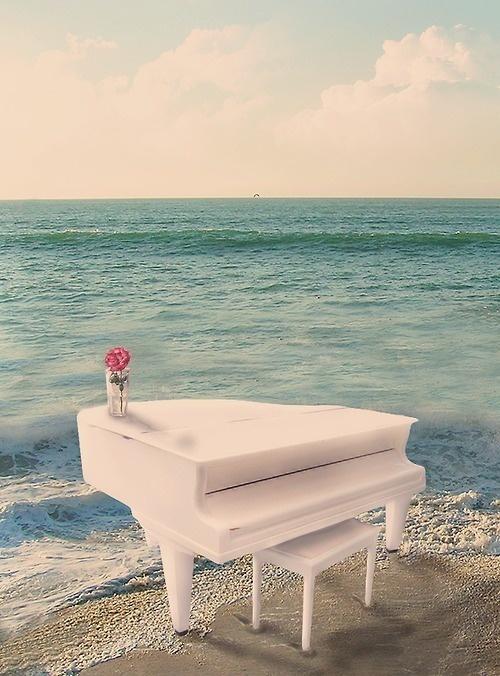 Piano on beach 2