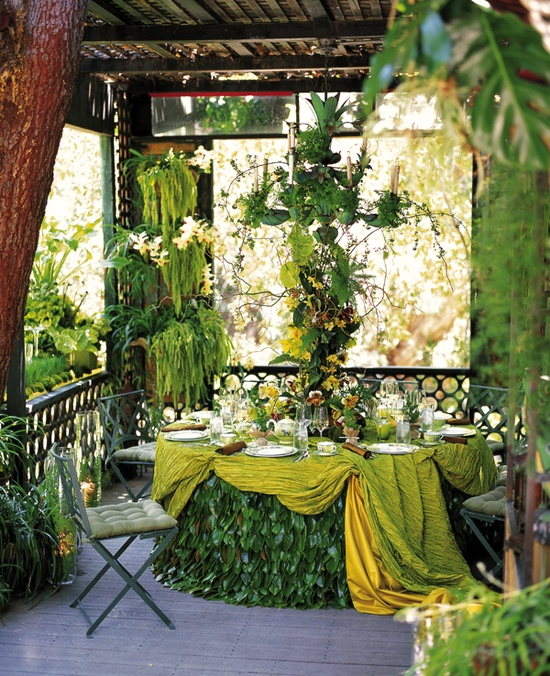 Green Garden Tablescape