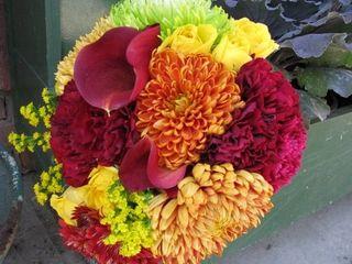 Orange red yellow bouquet