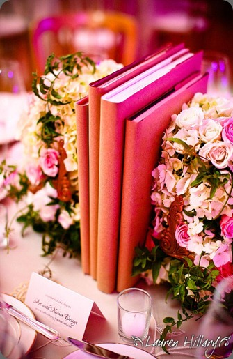 how to create interesting flower and book displays