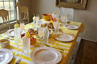 Upholstery fabric tablecloth