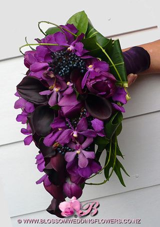 Radiant orchid bouquet B