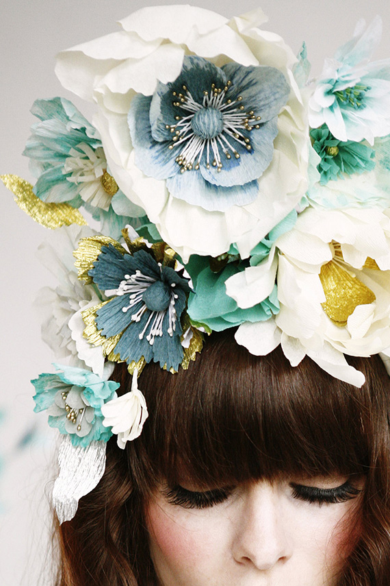 Paper Flower Headpiece Hayley Sheldon
