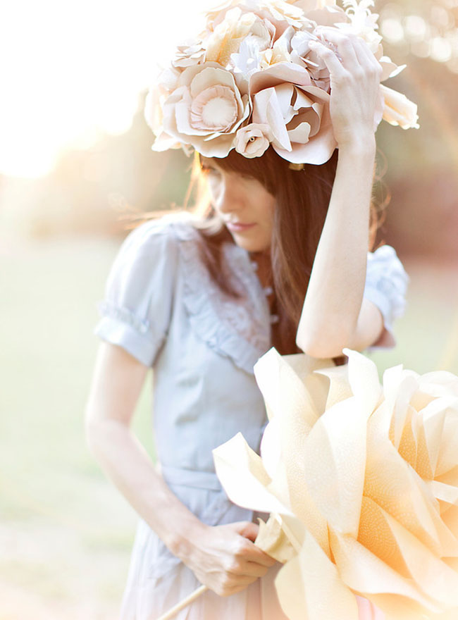 Paper Flower Headpieces - Honey Bee Events