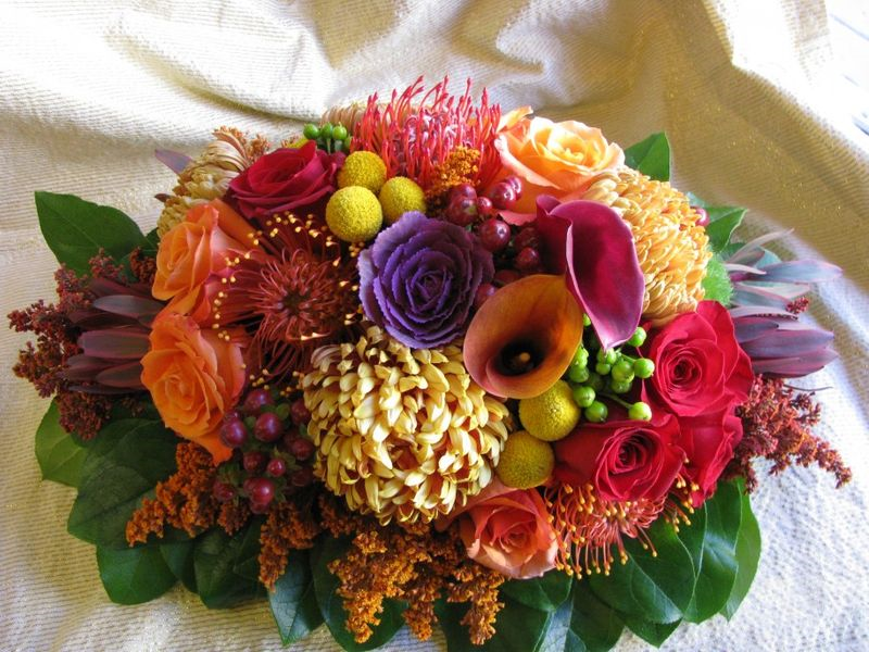 how to make simple mini thanksgiving flower arrangements first